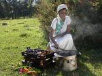 Coffee ceremony at Bonga(where the coffee Arabica is originate